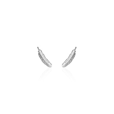 9e8ac9b78 Boh Runga Miromiro Feather Stud Earrings - Sterling Silver