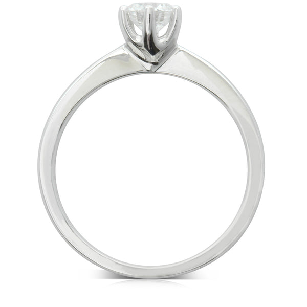 18ct White Gold .52ct Diamond Nova Ring - Walker & Hall