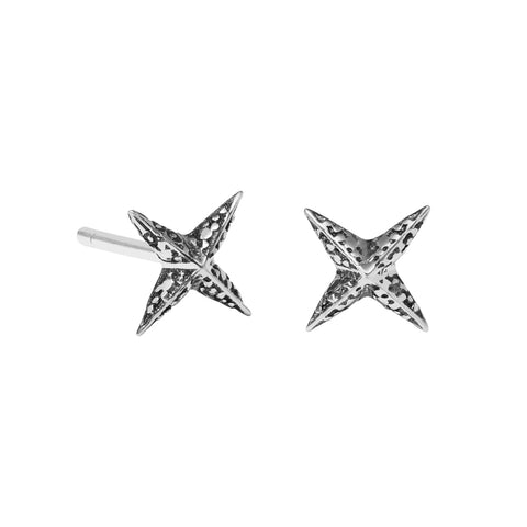 Meadowlark Petite Faux Pave Star Studs - Sterling Silver - Walker & Hall