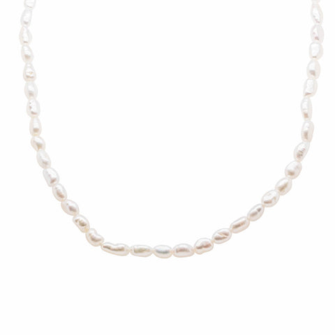 Baby Baroque Pearl Necklace - Sterling Silver - Walker & Hall