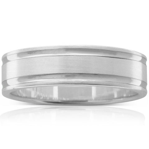 9ct & 18ct White Gold Men's Ring - Walker & Hall