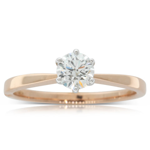 18ct Rose Gold .50ct Diamond Nova Ring - Walker & Hall