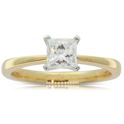 18ct Yellow Gold .70ct Diamond Royale Ring - Walker & Hall