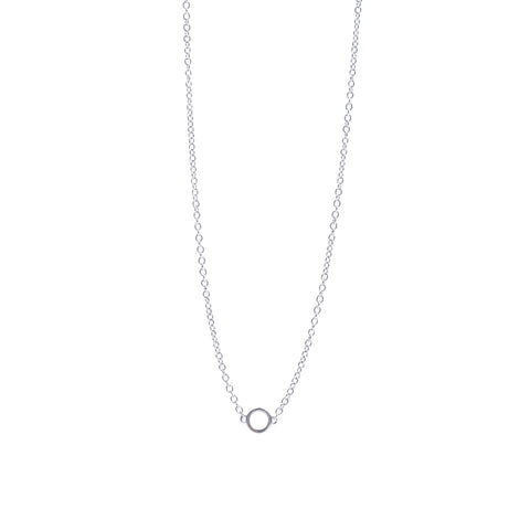 Boh Runga Circle Necklace - Sterling Silver - Walker & Hall