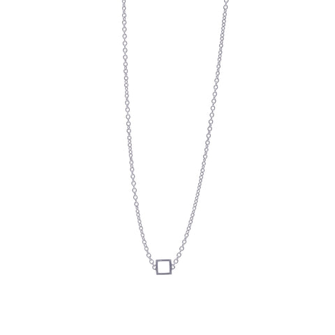 Boh Runga Square Necklace - Sterling Silver - Walker & Hall