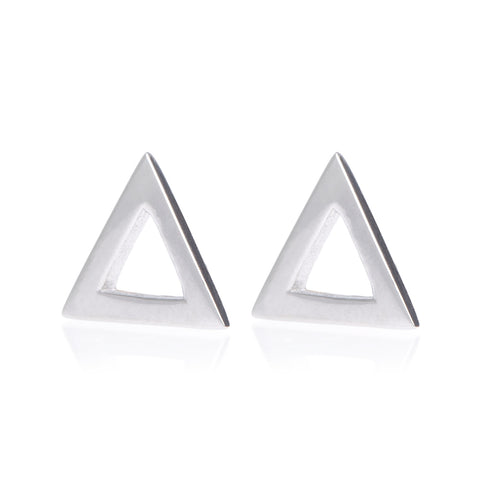 Boh Runga Triangle Studs - Sterling Silver - Walker & Hall