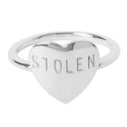 Stolen Girlfriends Club Sterling Silver Heart Ring - Walker & Hall
