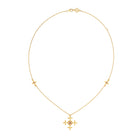 Zoe & Morgan Sura Necklace - Gold Plated & Brown Zircon - Walker & Hall