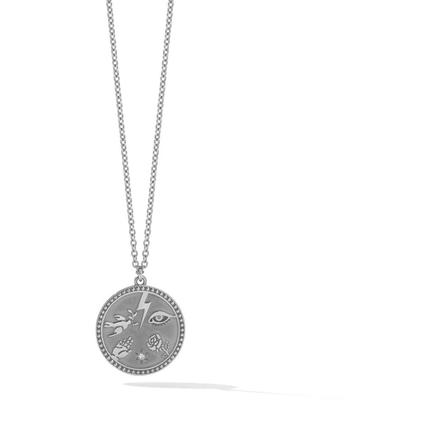 Meadowlark Talisman Necklace - Sterling Silver - Walker & Hall