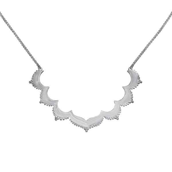 Zoe & Morgan Tangier Large Frame Necklace - Sterling Silver
