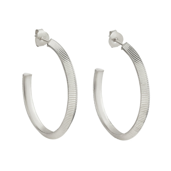 Zoe & Morgan Tasa Earrings - Sterling Silver - Walker & Hall