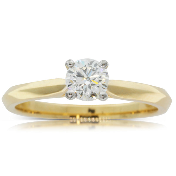 18ct Yellow Gold .50ct Diamond Venetian Ring