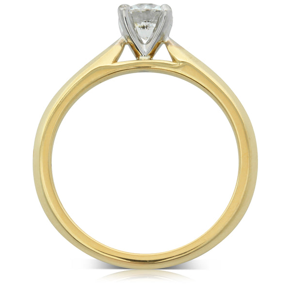 18ct Yellow Gold .50ct Diamond Venetian Ring - Walker & Hall