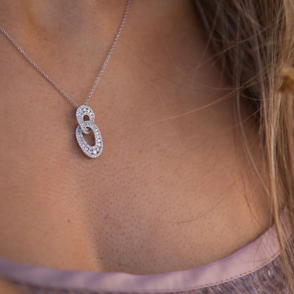 18ct White Gold .96ct Diamond Pendant