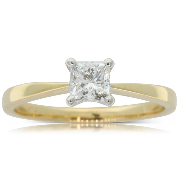 18ct Yellow & White Gold .50ct Diamond Royale Ring - Walker & Hall