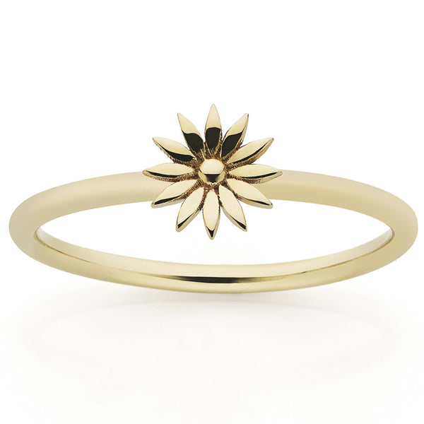 Meadowlark Dazed Stacker Ring - 9ct Yellow Gold - Walker & Hall