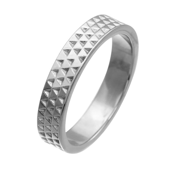 Zoe & Morgan Womens Triangle Band - Sterling Silver