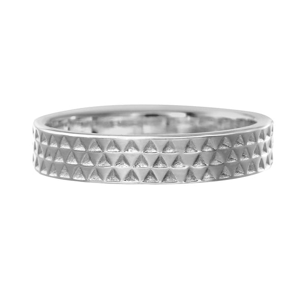 Zoe & Morgan Mens Triangle Band - Sterling Silver - Walker & Hall