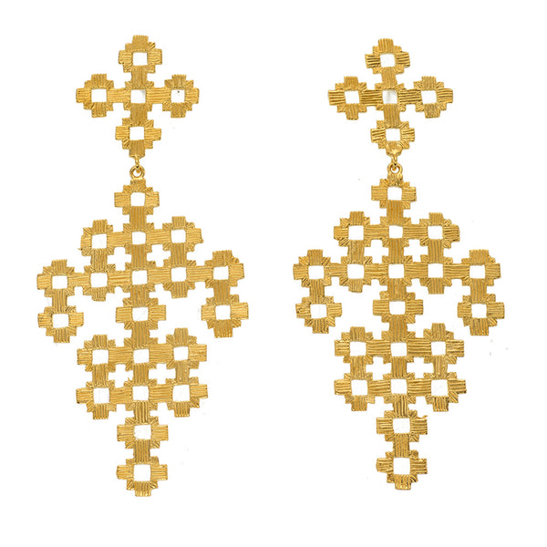 Zoe & Morgan Chimi Earrings - 22ct Yellow Gold Plated
