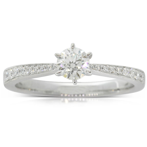 18ct White Gold .38ct Diamond Zenith Ring