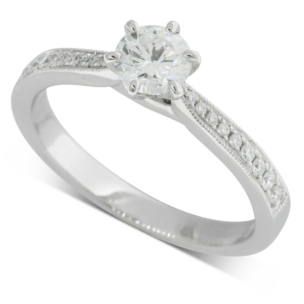 18ct White Gold .48ct Diamond Zenith Ring