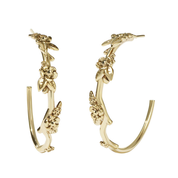 Meadowlark Alba Hoop Earrings Large - Gold Plated - Walker & Hall