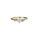Meadowlark 9ct Yellow Gold Alba Ring - White Diamond - Walker & Hall