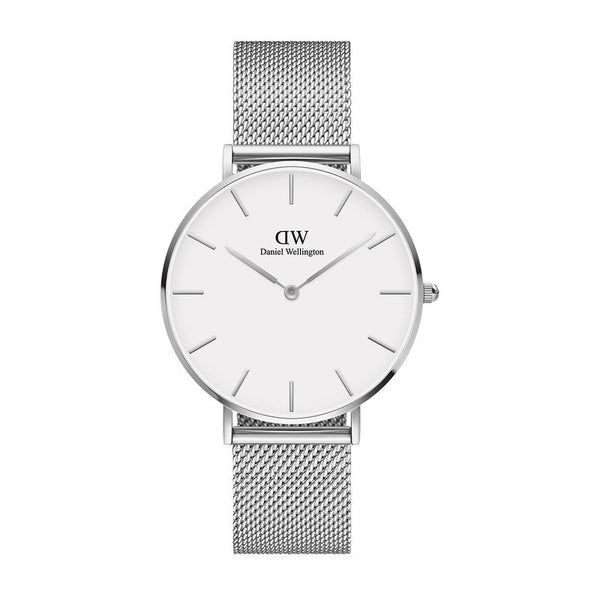 Daniel Wellington Petite Sterling Silver & White 36mm - Walker & Hall