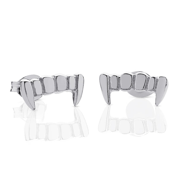 Meadowlark Fang Studs - Sterling Silver - Walker & Hall