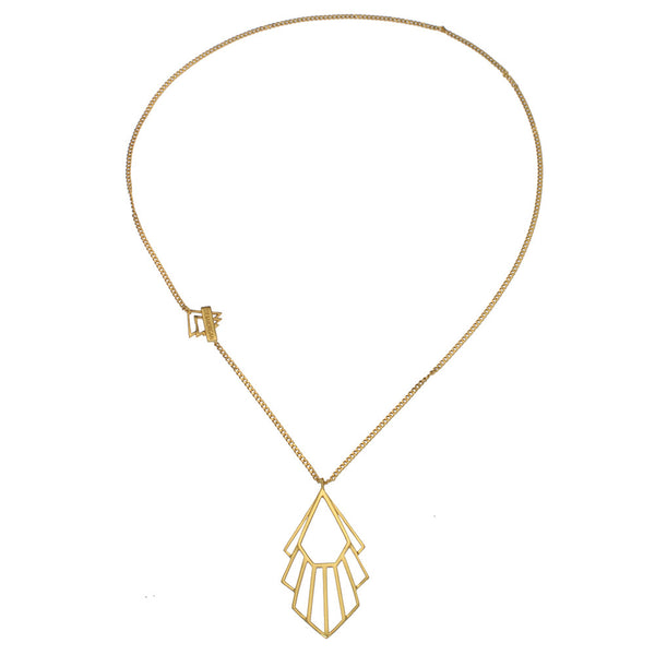 Zoe & Morgan Flossie Necklace - 22ct Yellow Gold Plated