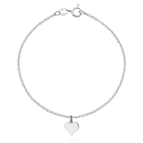 Meadowlark Candy Heart Charm Bracelet - Sterling Silver - Walker & Hall