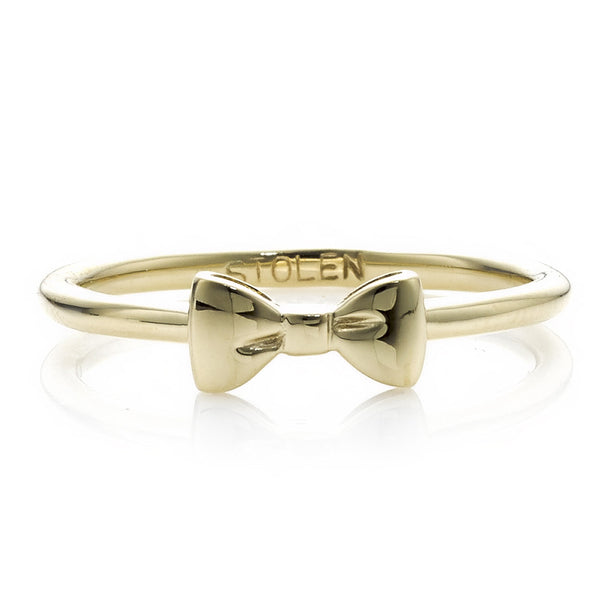 Stolen Girlfriends Club Baby Bow Ring - 9ct Yellow Gold - Walker & Hall