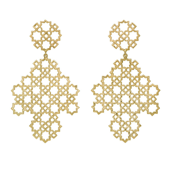Zoe & Morgan Ketama Earrings - 22ct Yellow Gold Plated