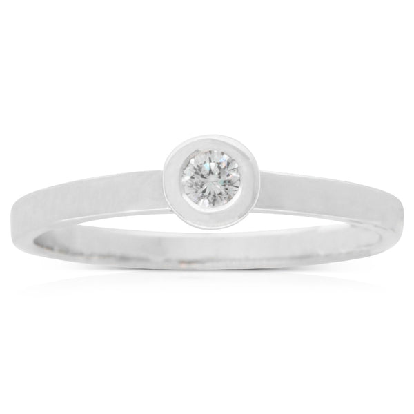 Karen Walker 9ct White Gold .10ct Diamond Ring - Walker & Hall