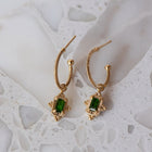 Zoe & Morgan Marina Earrings - Gold Plated & Chrome Diopside - Walker & Hall