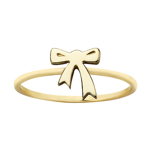Karen Walker Mini Bow Ring - 9ct Yellow Gold - Walker & Hall