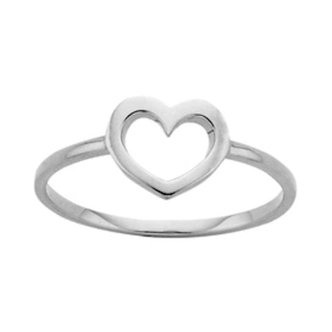 Karen Walker Mini Heart Ring - Sterling Silver - Walker & Hall