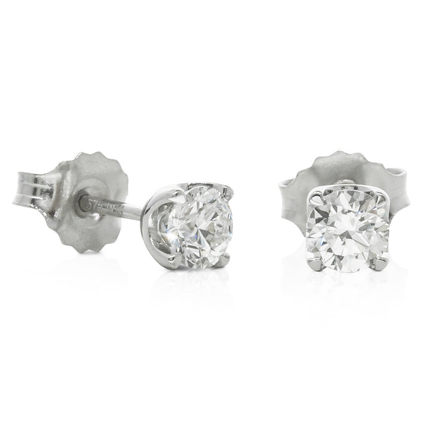 9ct White Gold .50ct Diamond Blossom Stud Earrings