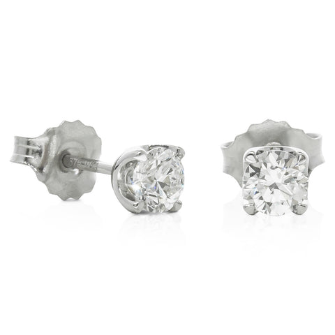 9ct White Gold .50ct Diamond Blossom Stud Earrings - Walker & Hall