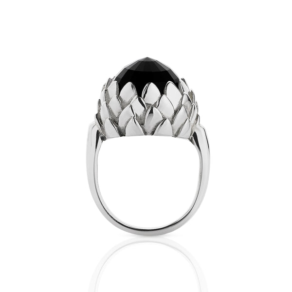 Meadowlark Protea Cocktail Ring - Sterling Silver - Walker & Hall