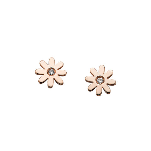 Karen Walker Daisy Earrings - Rose Gold - Walker & Hall