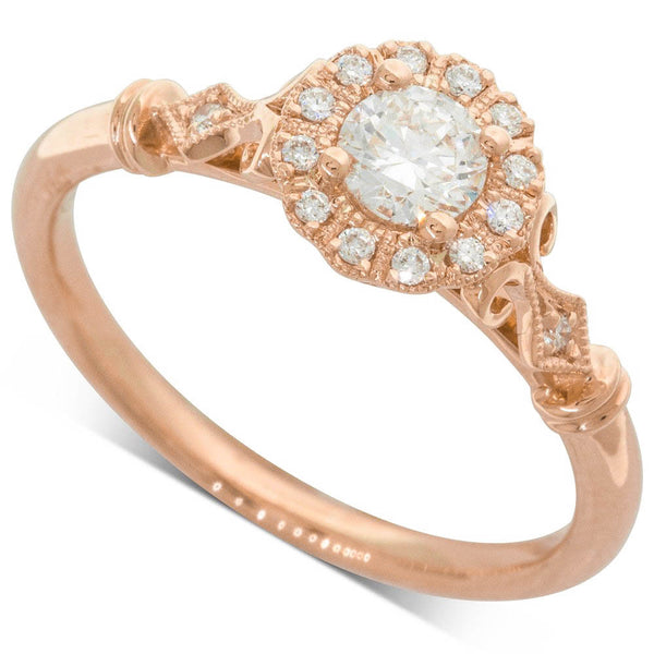 18ct Rose Gold .32ct Diamond Versaille Ring