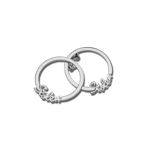 Stolen Girlfriends Club Stolen Script Hoop Earrings - Walker & Hall