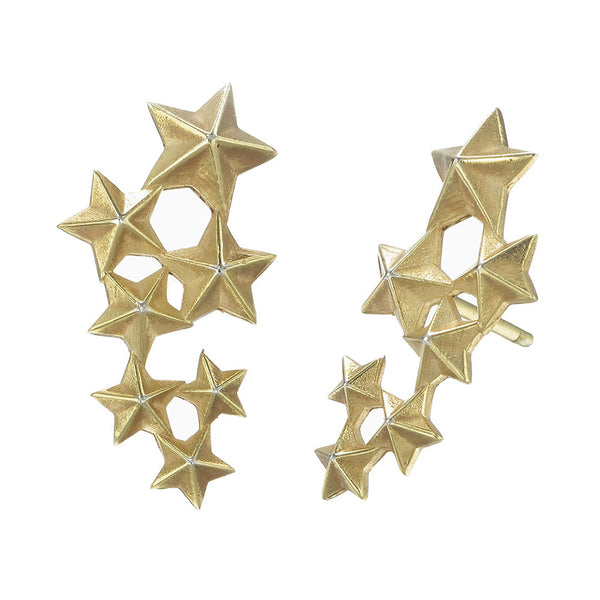 Zoe & Morgan Seven Sisters Earrings - 22ct Yellow Gold Plated