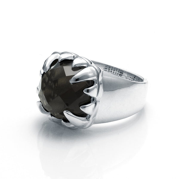 Stolen Girlfriends Club Claw Ring - Smokey Quartz - Walker & Hall