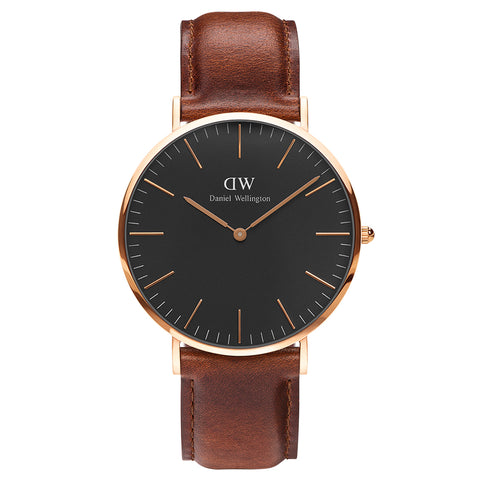 Daniel Wellington Classic Black St Mawes 40mm Watch - Walker & Hall