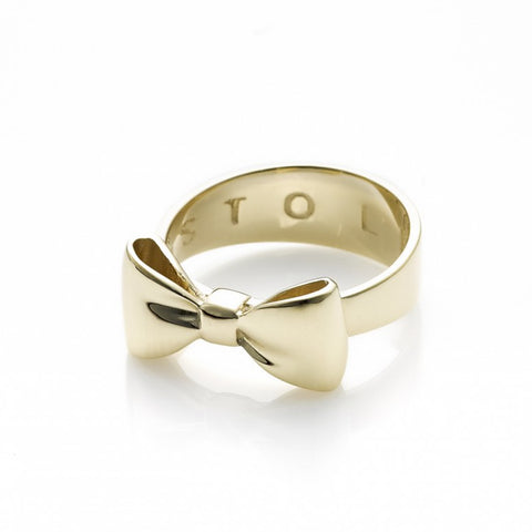 Stolen Girlfriends Club Bow Ring - 9ct Yellow Gold - Walker & Hall
