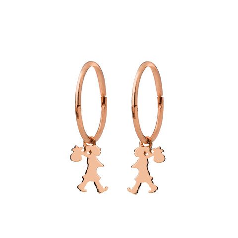 Karen Walker Runaway Girl Sleepers - 9ct Rose Gold - Walker & Hall