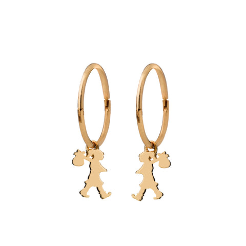 Karen Walker Runaway Girl Sleepers - 9ct Yellow Gold - Walker & Hall