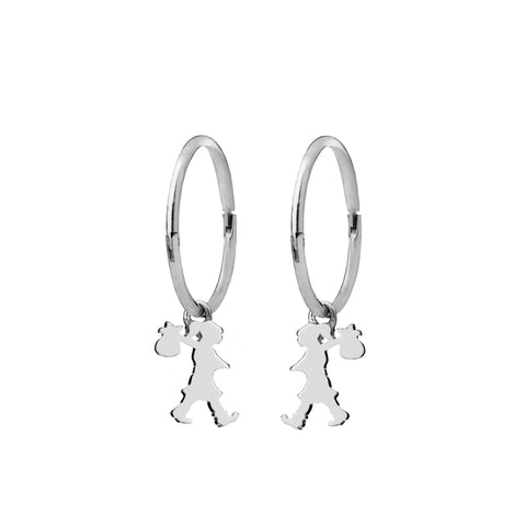 Karen Walker Runaway Girl Sleepers - Sterling Silver - Walker & Hall